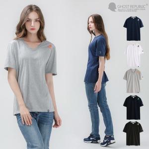 브이넥 반팔티 / V넥 여성  커플  티셔츠 GT-373