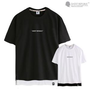 레이어드 트임 남자 반팔티 / 빅사이즈 티셔츠 3131