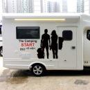 캠핑스티커 START 문구변경가능 캠핑가 데칼 스티커