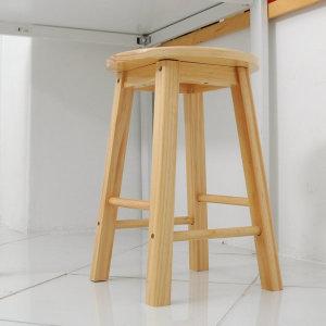 원목 홈바의자 소형/ 주방 식탁 의자/ 거실 간이 의자