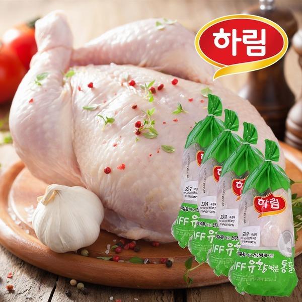 하림 IFF 유황먹은영계 530g 4봉 / 삼계탕