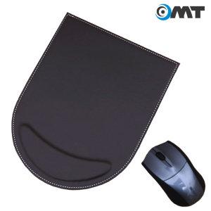 OMT 손목보호 가죽 마우스패드 OMP-43 쿠션 패드