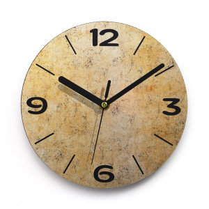인테리어벽시계 간단히 붙이는시계 엣지라인 스톤골드