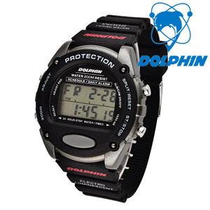 돌핀 200M 방수 전자손목시계 567-13A