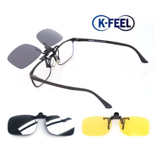 K-FEEL 편광 클립 선글라스 클립온 썬글라스 1001