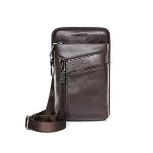 소 가죽 휴대폰 여권 크로스 여행 벨트 미니 백 가방