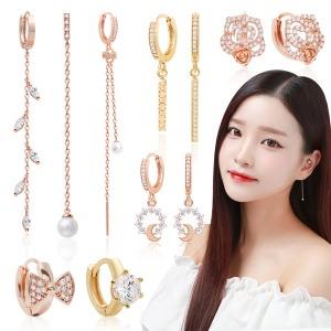 14K gold pin 귀걸이 한정특가 핑크골드 원터치 진주