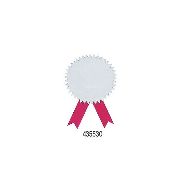 (현대Hmall) 435530 무지상장스티커(은색+적색리본/지름45mm/20개/우진)