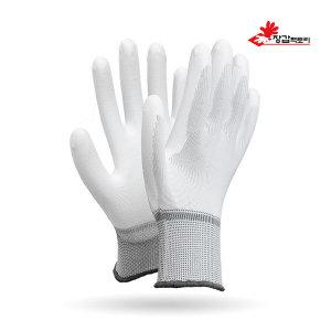 수입 PU흰색바닥 코팅장갑 30켤레 팜피트 반코팅장갑