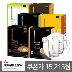 (쿠폰가15215)루카스나인라떼6종60T+머그2개/커피믹스