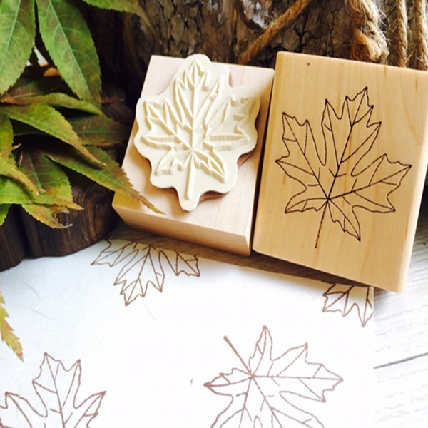 단풍잎 고무아트스탬프 다이어리꾸미기 나뭇잎 식물