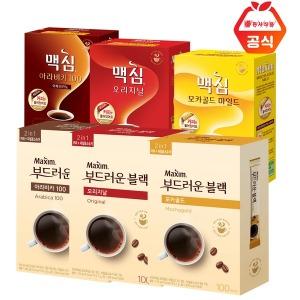 맥심 부드러운 블랙 커피 100T/솔루블 /아라비카