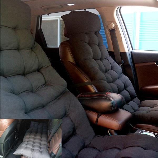 럭셔리 차량용 엠보 쿠션 블랙 리무진시트 뒷좌석방석