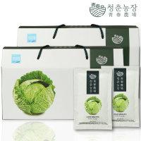 청춘농장 무농약 양배추즙 2박스 60포