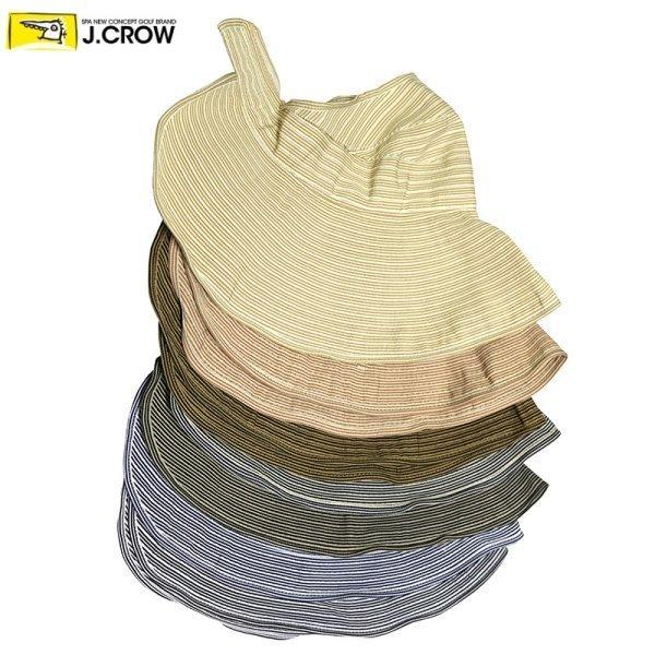 제이크로우  제이크로우  얇은 스트라이프 패턴 와이어 여성 넓은 챙모자 (JCC16S-T