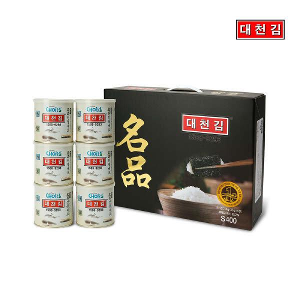 (현대Hmall)대천김 캔김 명품 선물세트 (35g x 6캔)
