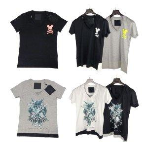필립플레인   옵션 6종  필립 플레인 PIRATE 브이넥 반팔 티셔츠 HM341067