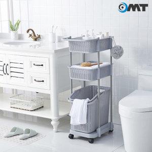 OMT 이동식 3단 틈새 세탁 빨래 바구니 M-LAYER99