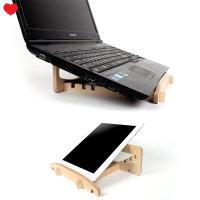 자작나무 노트북 거치대 휴대용 태블릿 받침대