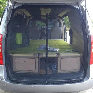 그랜드스타렉스 차량용모기장 방충망 2열 트렁크 캠핑