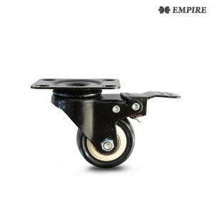 Z3_1.5인치 우레탄 평판 브레이크 캐스터 바퀴