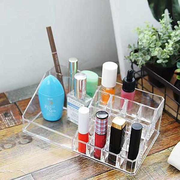 실용적인 화장품 립스틱 메이크업 정리 수납함 2size