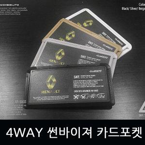커스터마이징 4WAY 썬바이저카드포켓/르노/이니셜파리