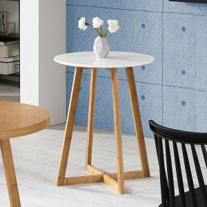 FR-C1326 화이트 티테이블 600/원형 책상/다용도 탁자
