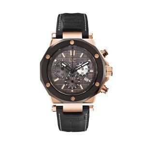 Gc-3 (X72024G5S) 블랙 악어무늬 남성용 시계