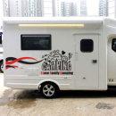 캠핑 라인 차량용 스티커
