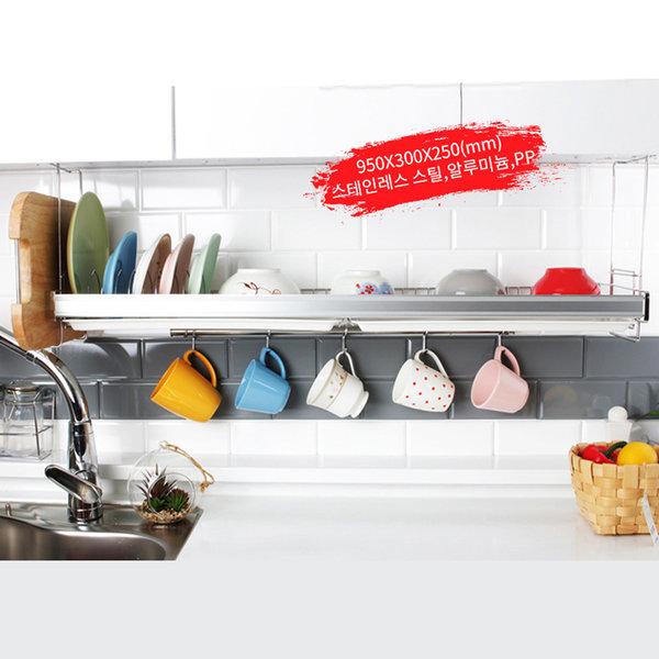홈-갤러리 씽크선반 900 식기건조대 주방선반