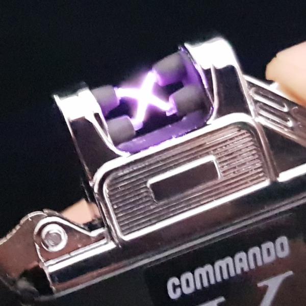 코만도엑스2개 방수/방풍 플라즈마 전기라이터
