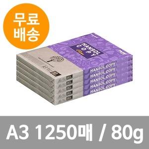 (한솔카피) A3 복사용지(80g) 250매x5권 1250매