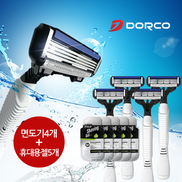 도루코 페이스4 휴대용 여행용 면도기 쉐이빙젤 세트