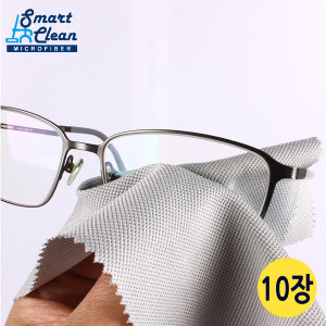 안경크리너 15x18 그레이10장 고급형 극세사 안경닦이