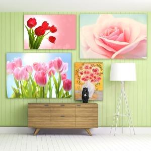풍수 예쁜 꽃 그림 모음전 인테리어 대형 캔버스 액자