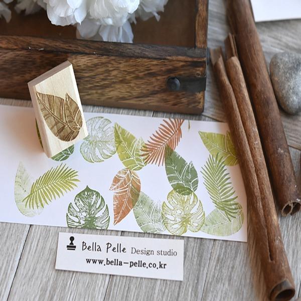 둥근나뭇잎 트로피칼 고무아트스탬프 다이어리꾸미기