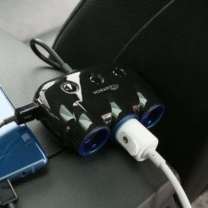 차량용 스위치 3구 멀티소켓 고속충전기 시거잭 CT-401