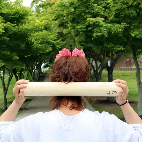 편백나무 안마봉 마사지봉 요가봉