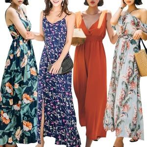 비치원피스 비치웨어 여름원피스 드레스 미니 롱