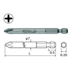 베셀 드라이버비트(+) B35-2150 / 2x7.0x150mm / 10개