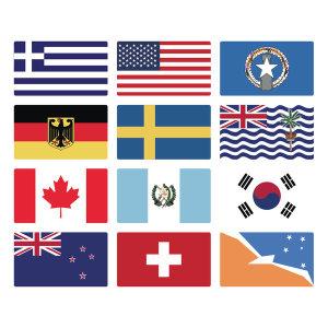 여행여행 캐리어 튜닝 세계국기 만국기 스티커