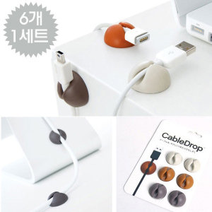 OMT 차량용 선정리 케이블정리 6개 1세트 CABLE DROP