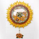 인테리어 벽시계 해바라기꽃(특대)-그린/무소음시계