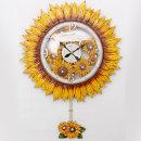 인테리어 벽시계 해바라기꽃(특대)-화이트/무소음시계