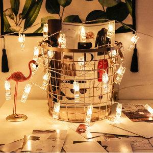 LED 집게 조명 무드등 수면등 인테리어 장식 소품