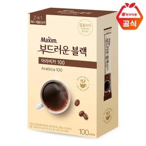 맥심 부드러운블랙 아라비카 100T/커피