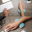 OMT 인체공학 손목보호패드 OMP-VC 젤 마우스패드 블루