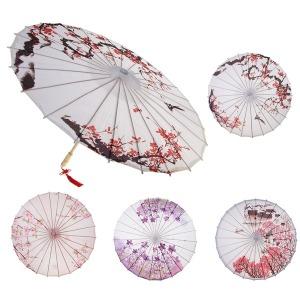중국 전통예술 유화 오일 종이 우산 클래식 춤 우산
