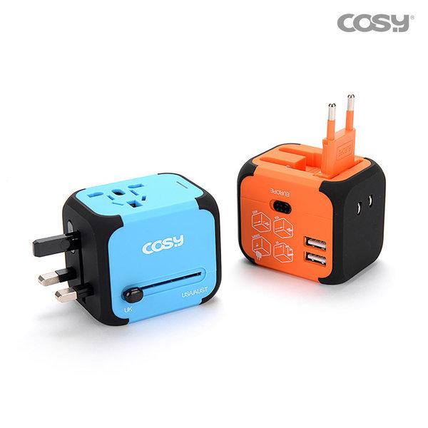 해외 여행용 아답터 멀티 USB 플러그 TA3068U /블루